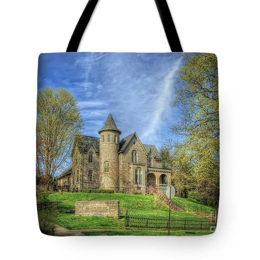 George W. Campbell Home Tote Bag featuring the photograph George W. Campbell Home by Pamela Baker