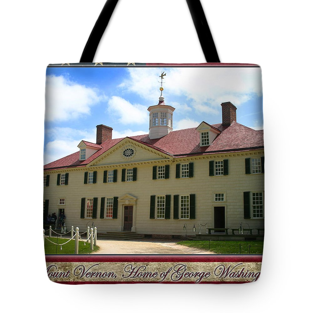 Mount Vernon Tote Bag featuring the photograph George Washington's Mount Vernon by Anthony Jones