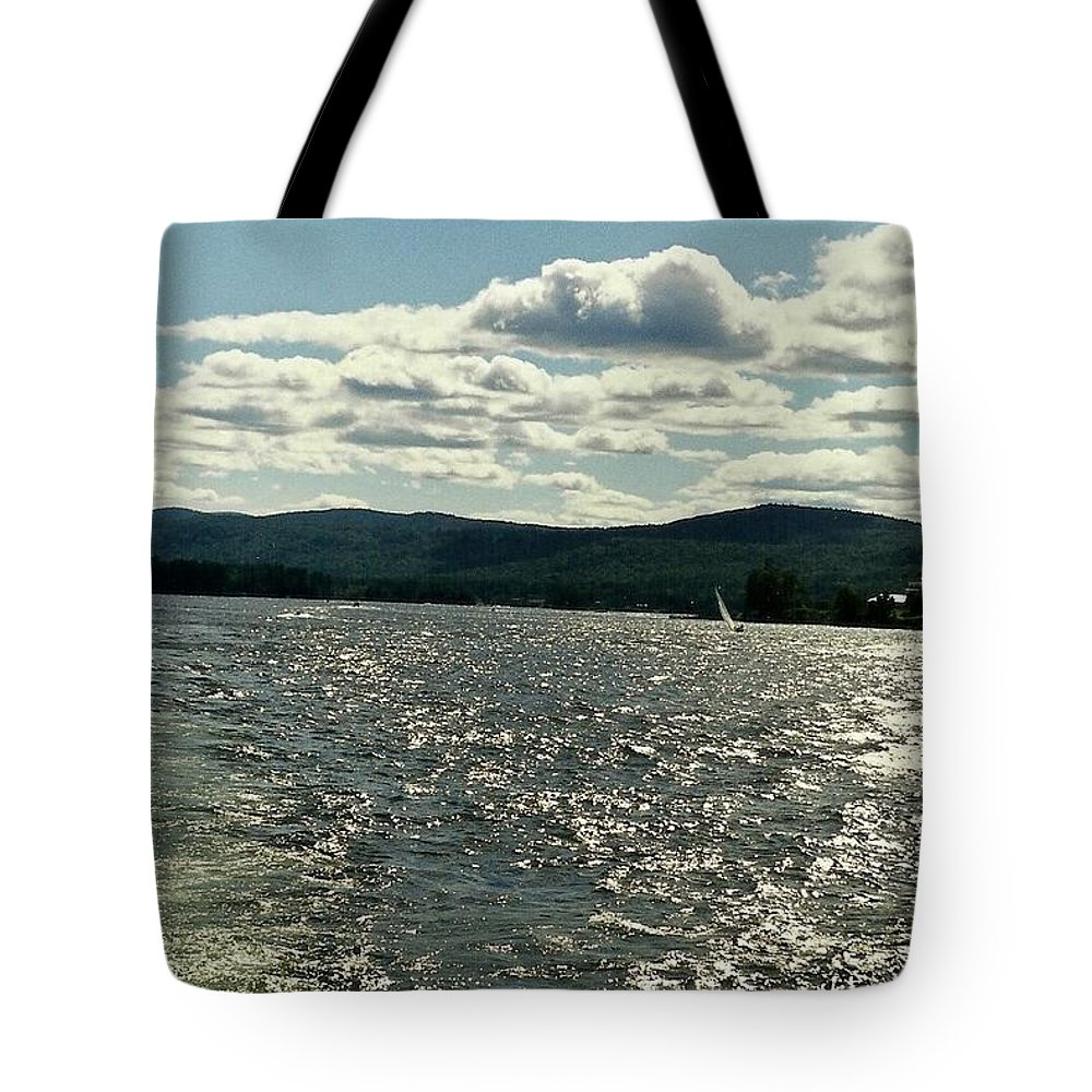 Lakes Tote Bag featuring the photograph Georgescape by John Schneider