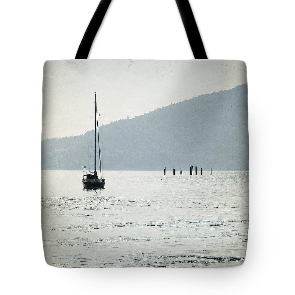 Anadian Photography Tote Bag featuring the photograph Georgia Strait - Canada - Square by Lisa Parrish