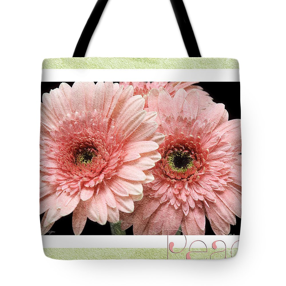 Gerber Tote Bag featuring the photograph Gerber Daisy Peace 4 by Andee Design