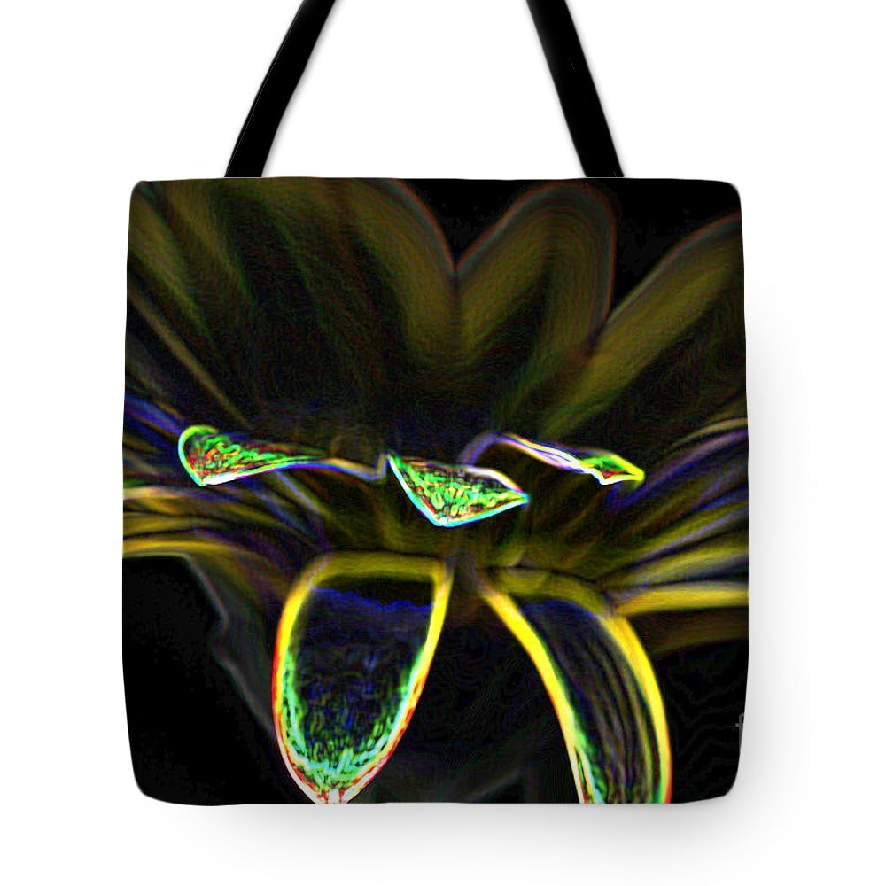 Yellow And Orange Gerbera Flower Tote Bag featuring the photograph Gerbera Glow 2 by Steve Purnell