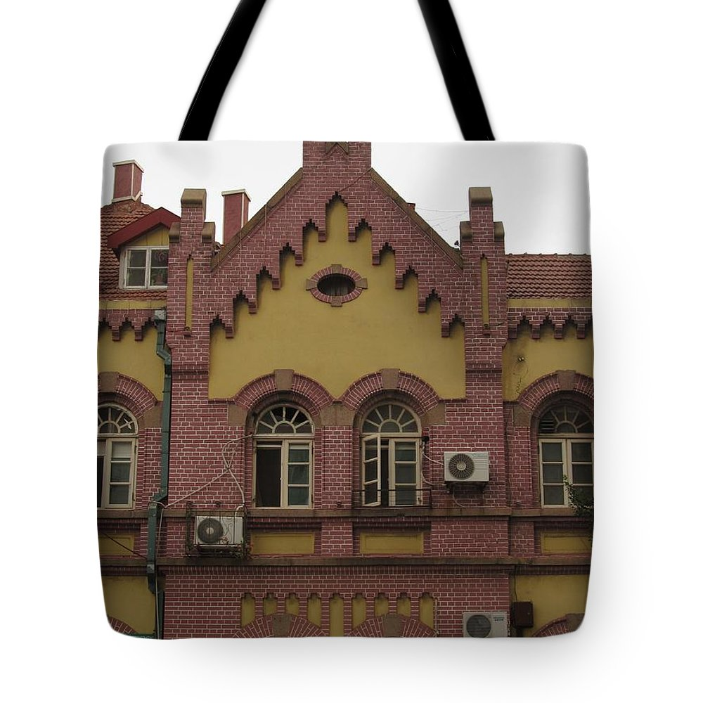 Qingdao China Tote Bag featuring the photograph german architecture in China by Alfred Ng