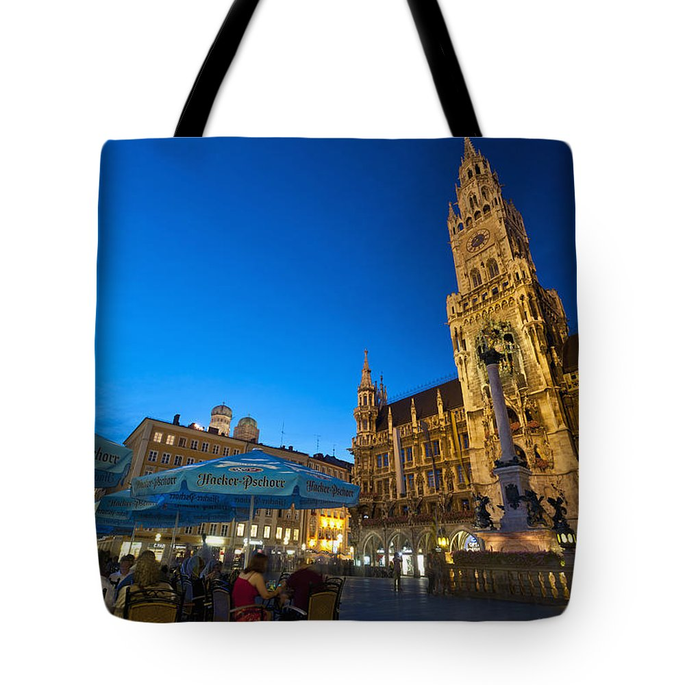Ian Tote Bag featuring the photograph Germany, Bavaria, Marienplatz Munch by Ian Cumming