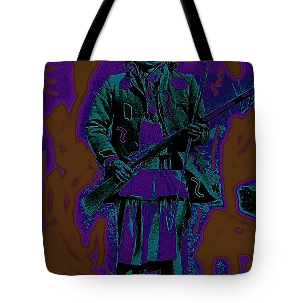 Geronimo With Rifle C.s. Fly Photo 1887-2008 Tote Bag featuring the photograph Geronimo With Rifle C.s. Fly Photo 1887-2008 by David Lee Guss