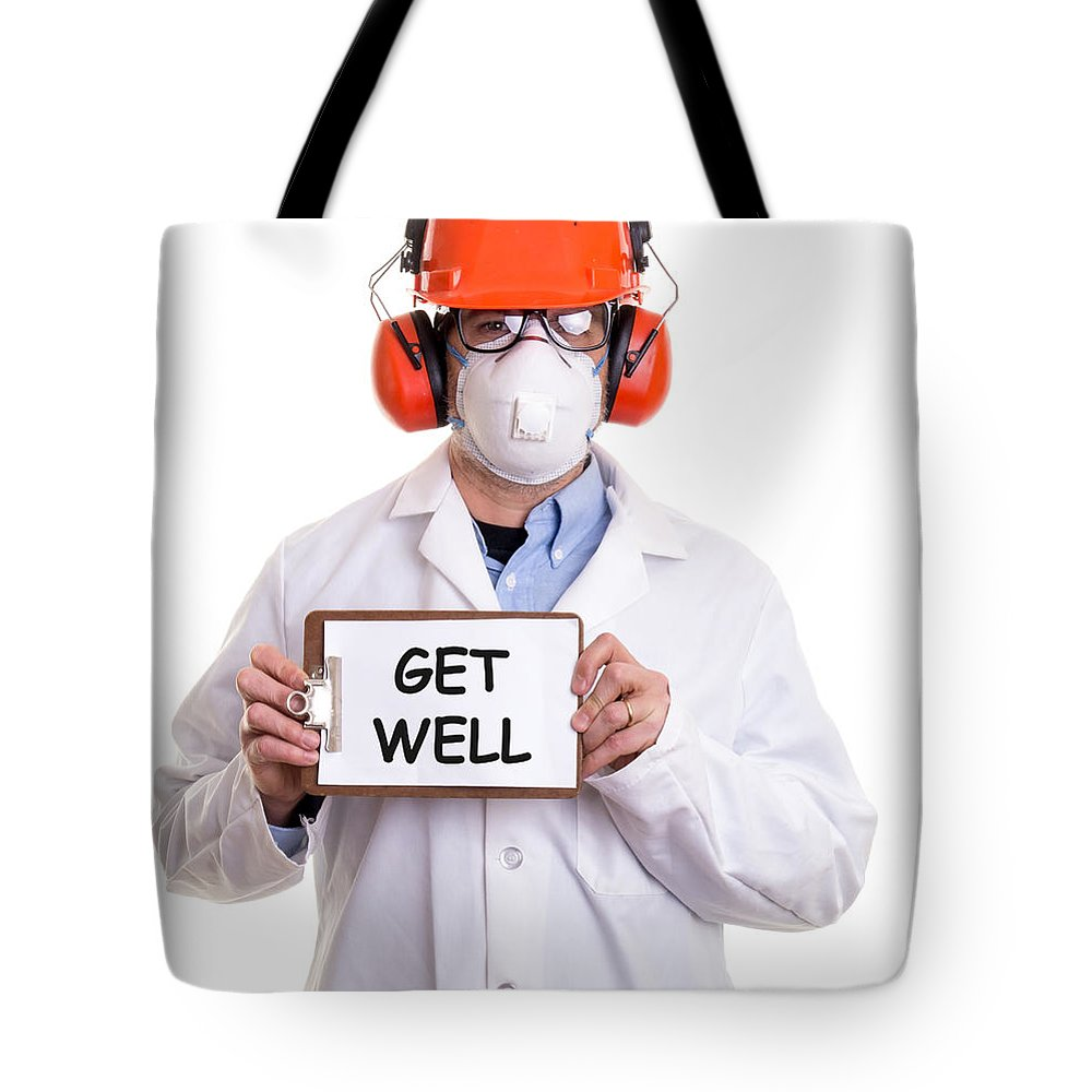 Custom Tote Bag featuring the photograph Get Well by Edward Fielding
