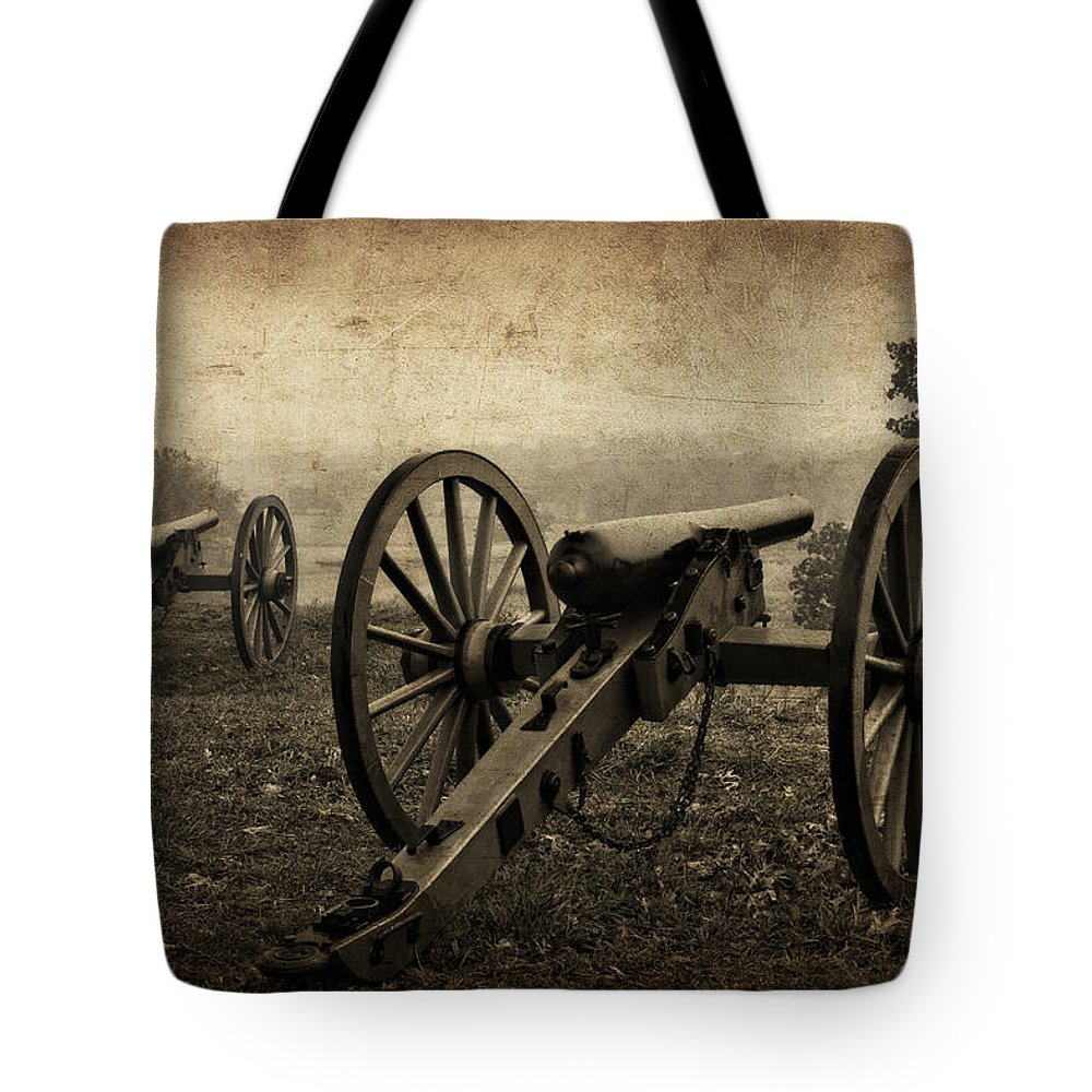 Gettysburg Tote Bag featuring the photograph Gettysburg Revisited by Priscilla Burgers