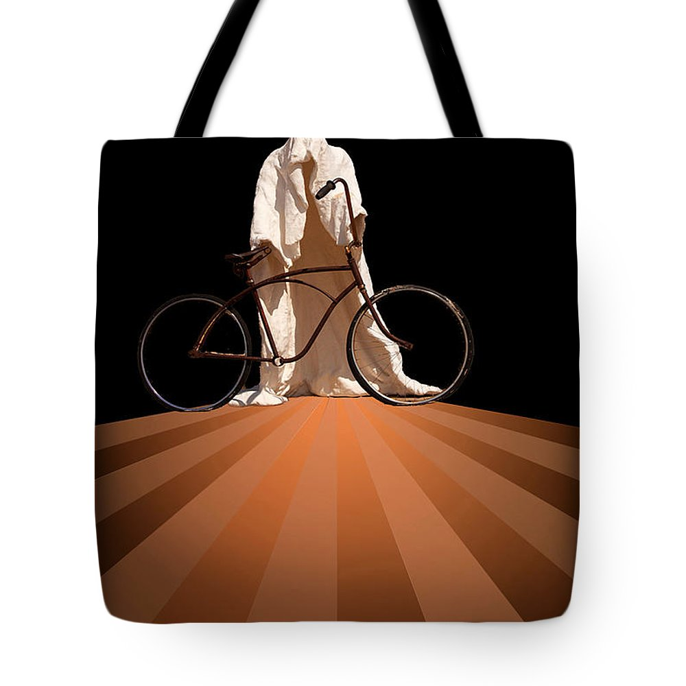 Fantasy Tote Bag featuring the photograph Ghost Rider by Maria Coulson