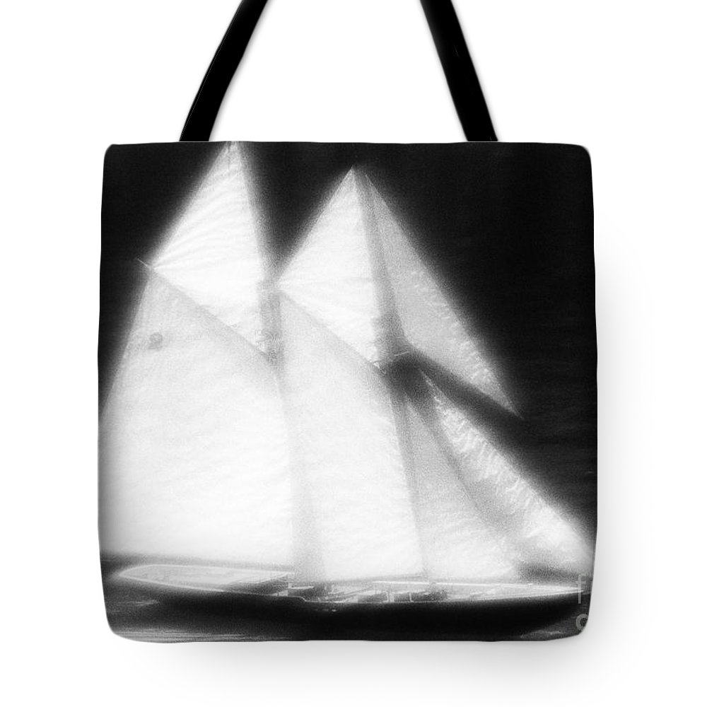 Sail Tote Bag featuring the photograph Ghost Ship by Tony Cordoza