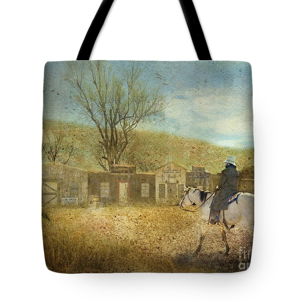 Cowboy Tote Bag featuring the photograph Ghost Town #1 by Betty LaRue