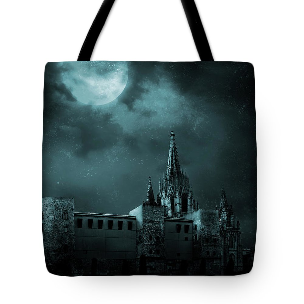 Gothic Style Tote Bag featuring the photograph Ghosts In The Empty Town by Vladgans