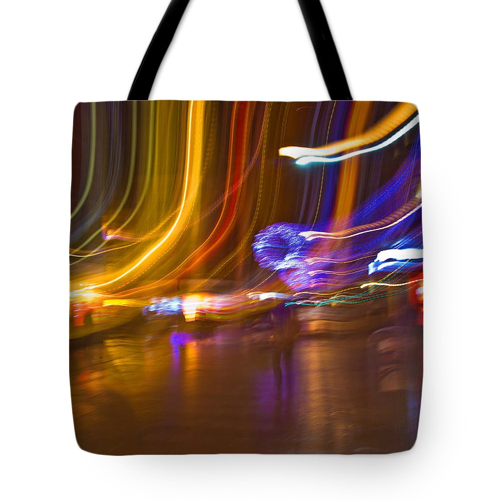 Ghost Tote Bag featuring the photograph Ghosts Of The Lights by Alex Art and Photo