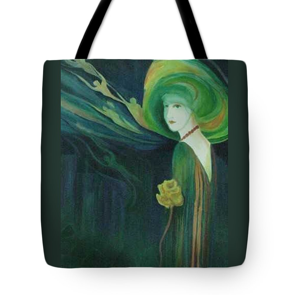 Women Tote Bag featuring the painting My Haunted Past by Carolyn LeGrand