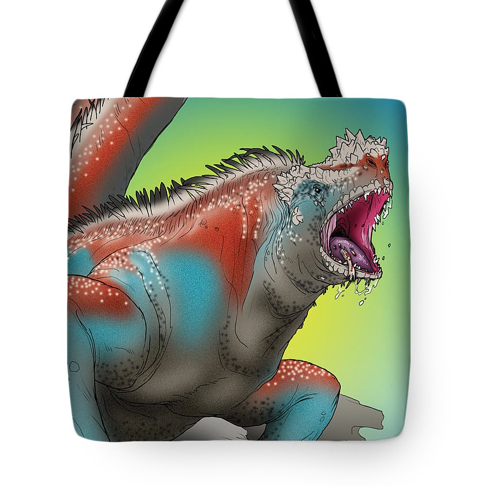 Usherwood Tote Bag featuring the digital art Giant Marine Iguana by James Kramer