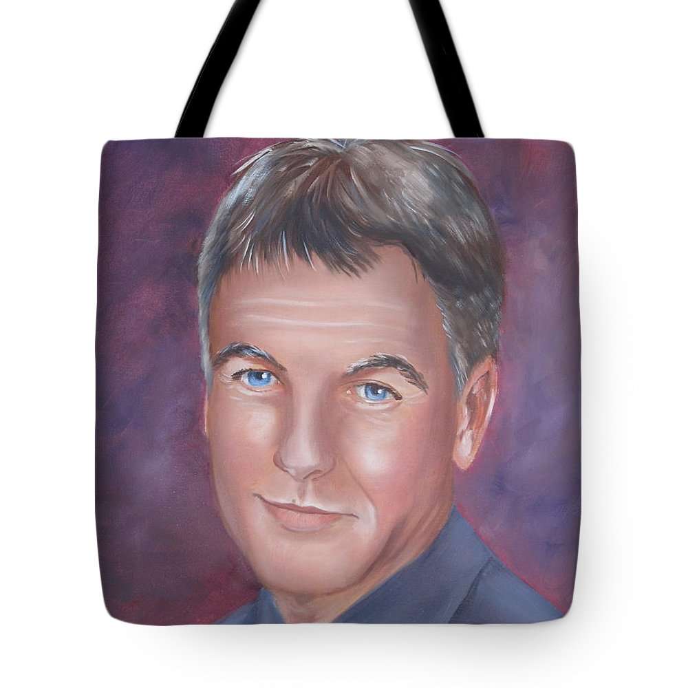 Portraits Tote Bag featuring the painting Gibbs Of Ncis by Kathie Camara