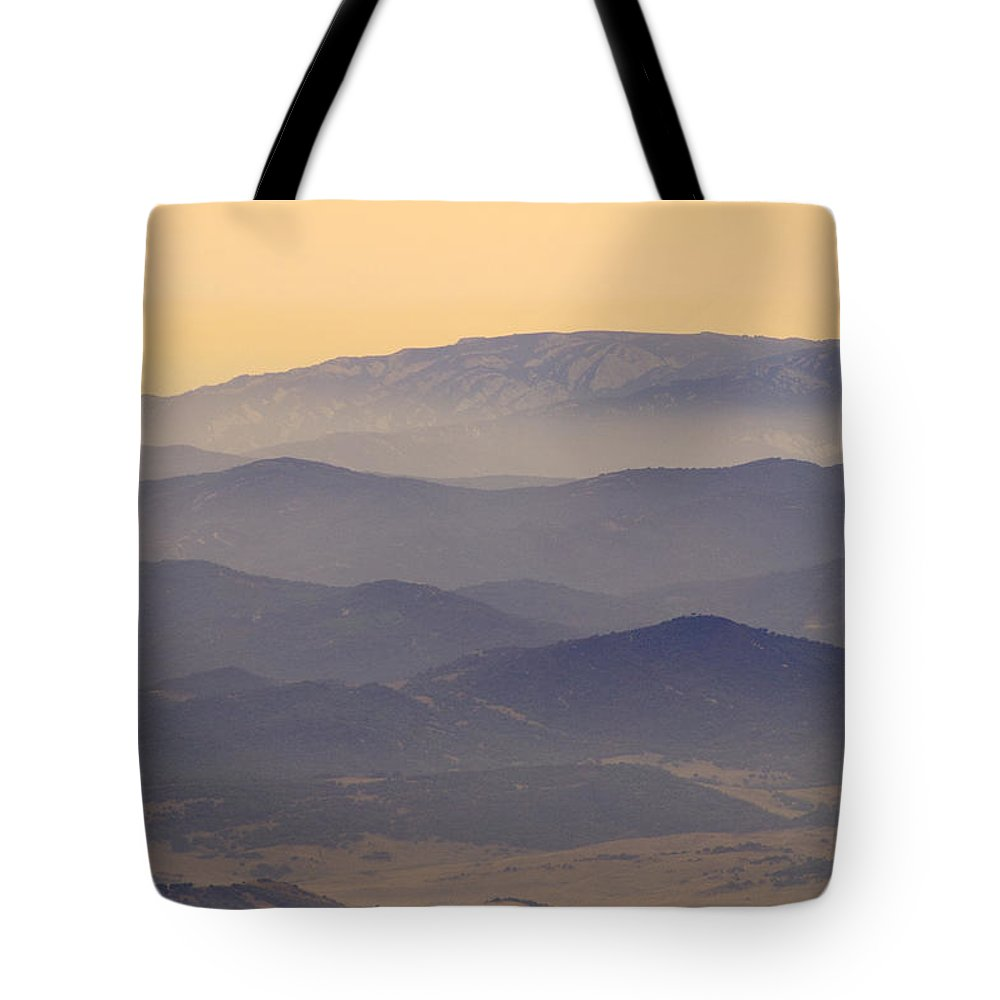 Sunset Tote Bag featuring the photograph Gibraltar Countryside At Sunset by Guido Montanes Castillo