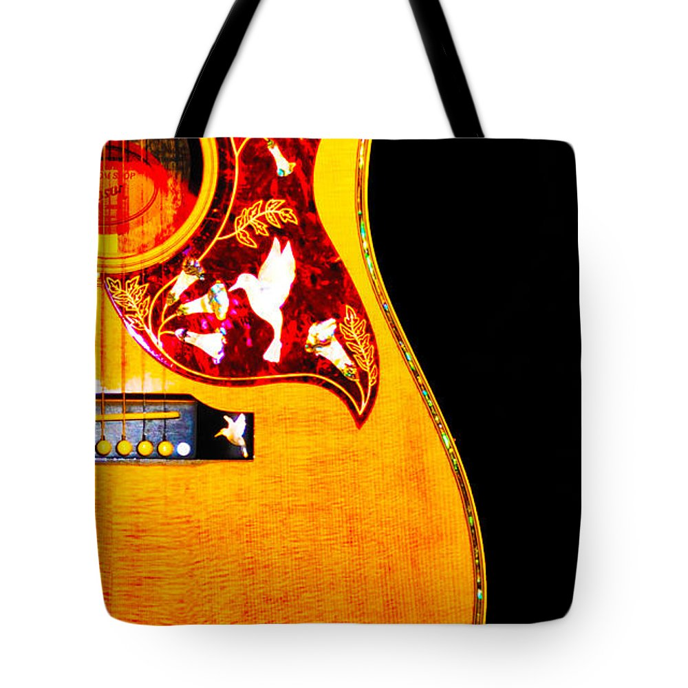 Gibson Tote Bag featuring the photograph Gibson Hummingbird by Bill Cannon