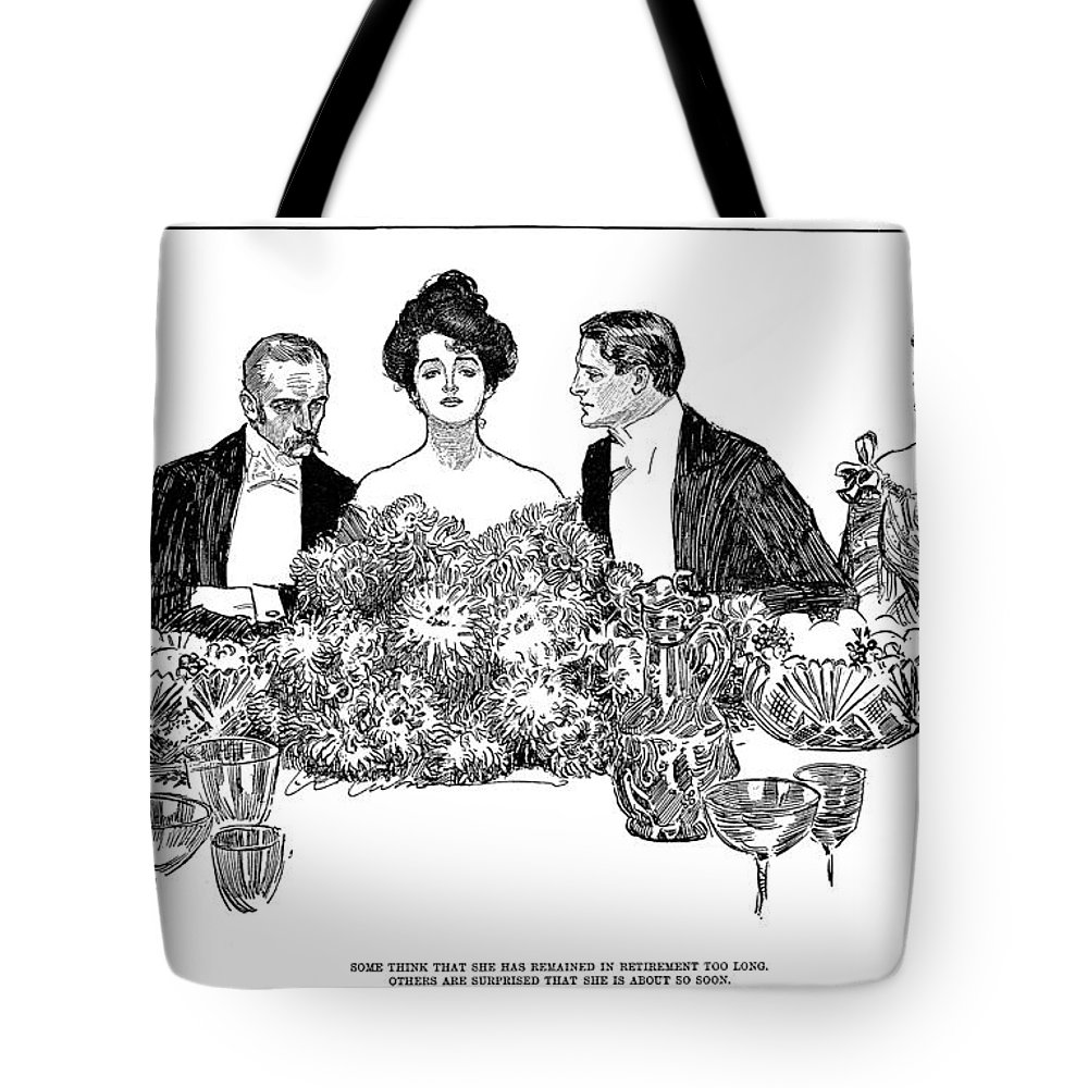 1900 Tote Bag featuring the photograph Gibson: Retirement, 1900 by Granger
