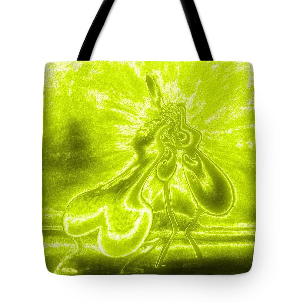 Genio Tote Bag featuring the mixed media Giddy Action by Genio GgXpress
