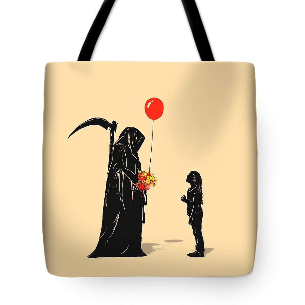 Death Tote Bag featuring the digital art Gift by Nicebleed