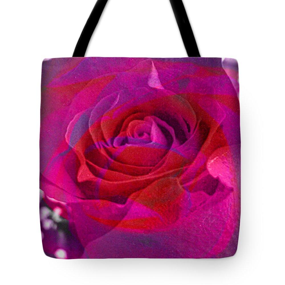 Digital Image Tote Bag featuring the digital art Gift Of The Heart by Yael VanGruber