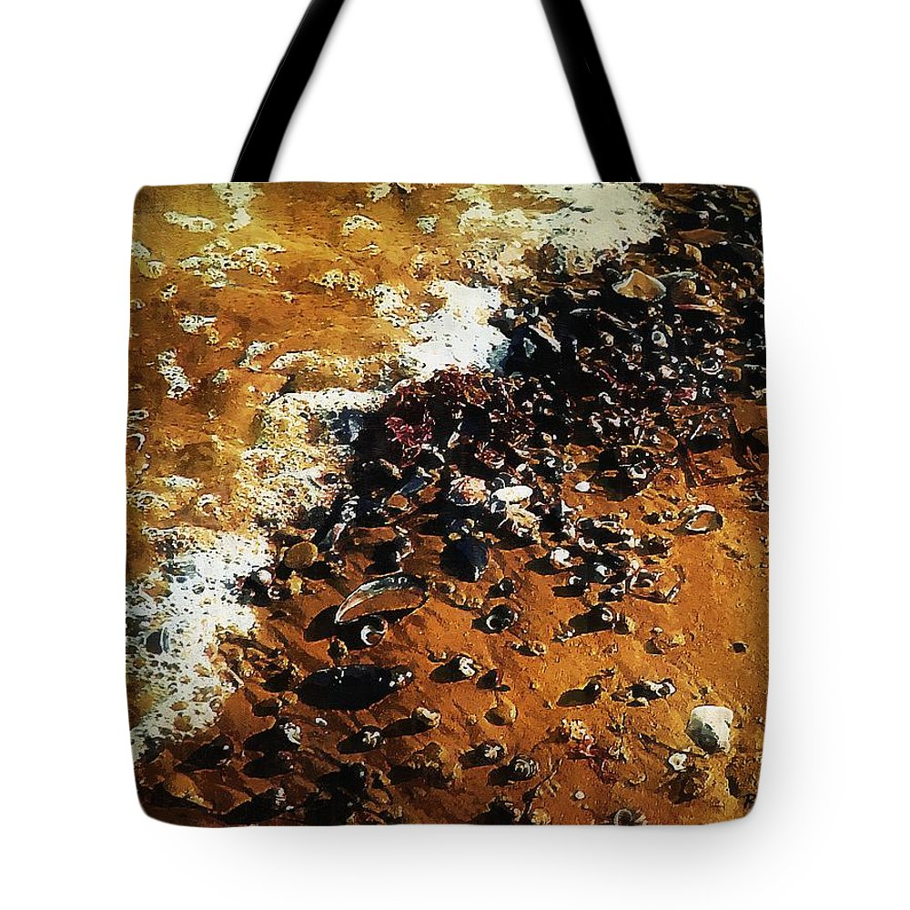 Landscape Tote Bag featuring the painting Gifts From The Sea by RC DeWinter