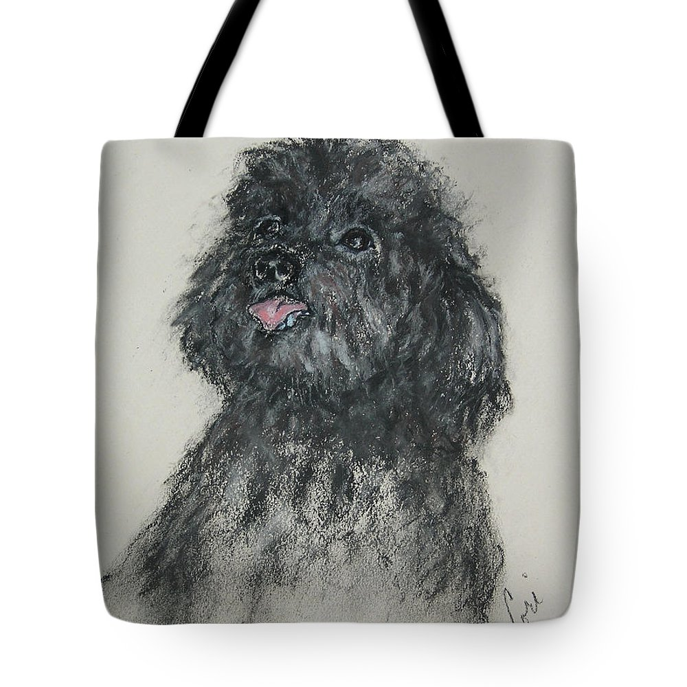 Poodle Tote Bag featuring the drawing Gigi by Cori Solomon