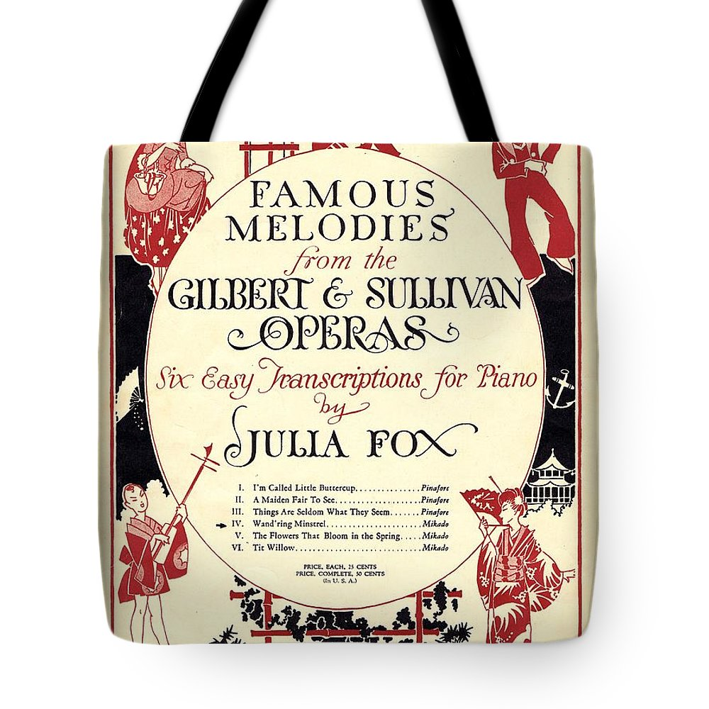 Nostalgia Tote Bag featuring the photograph Gilbert And Sullivan Operas by Mel Thompson