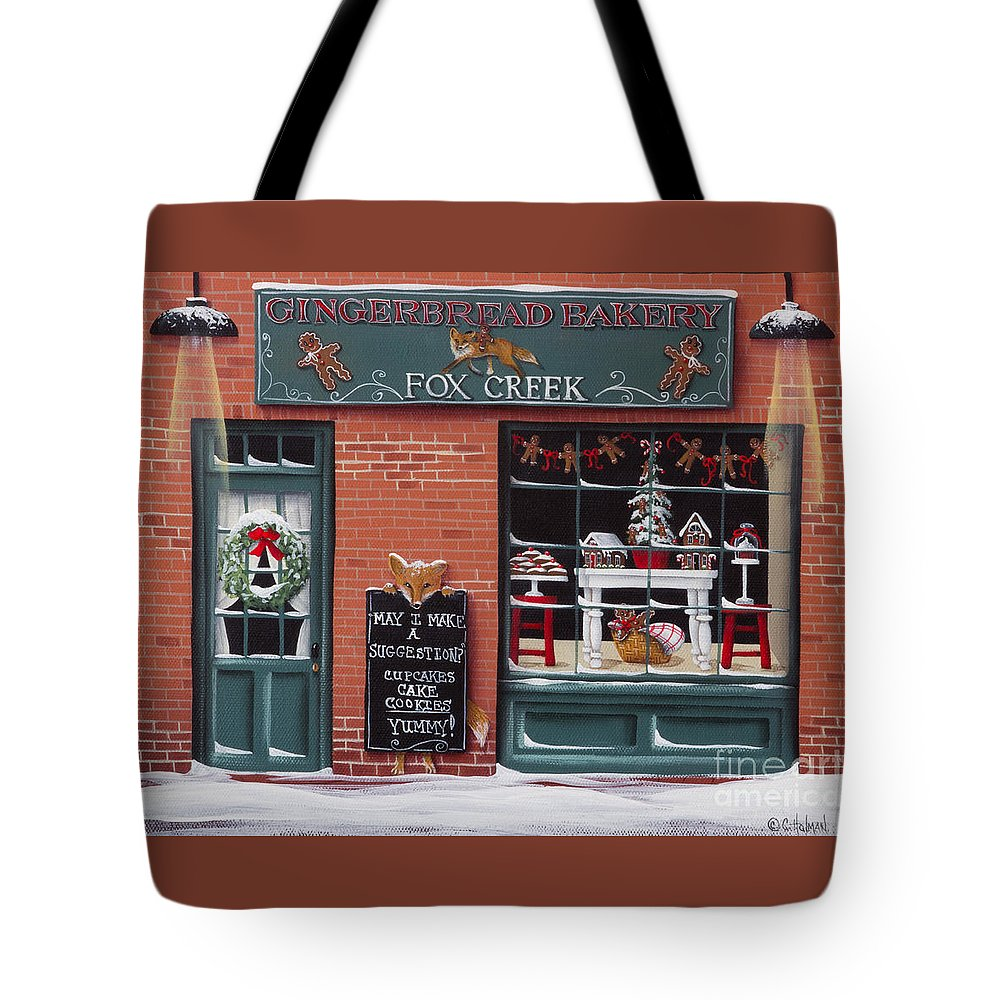 Art Tote Bag featuring the painting Gingerbread Bakery At Fox Creek by Catherine Holman