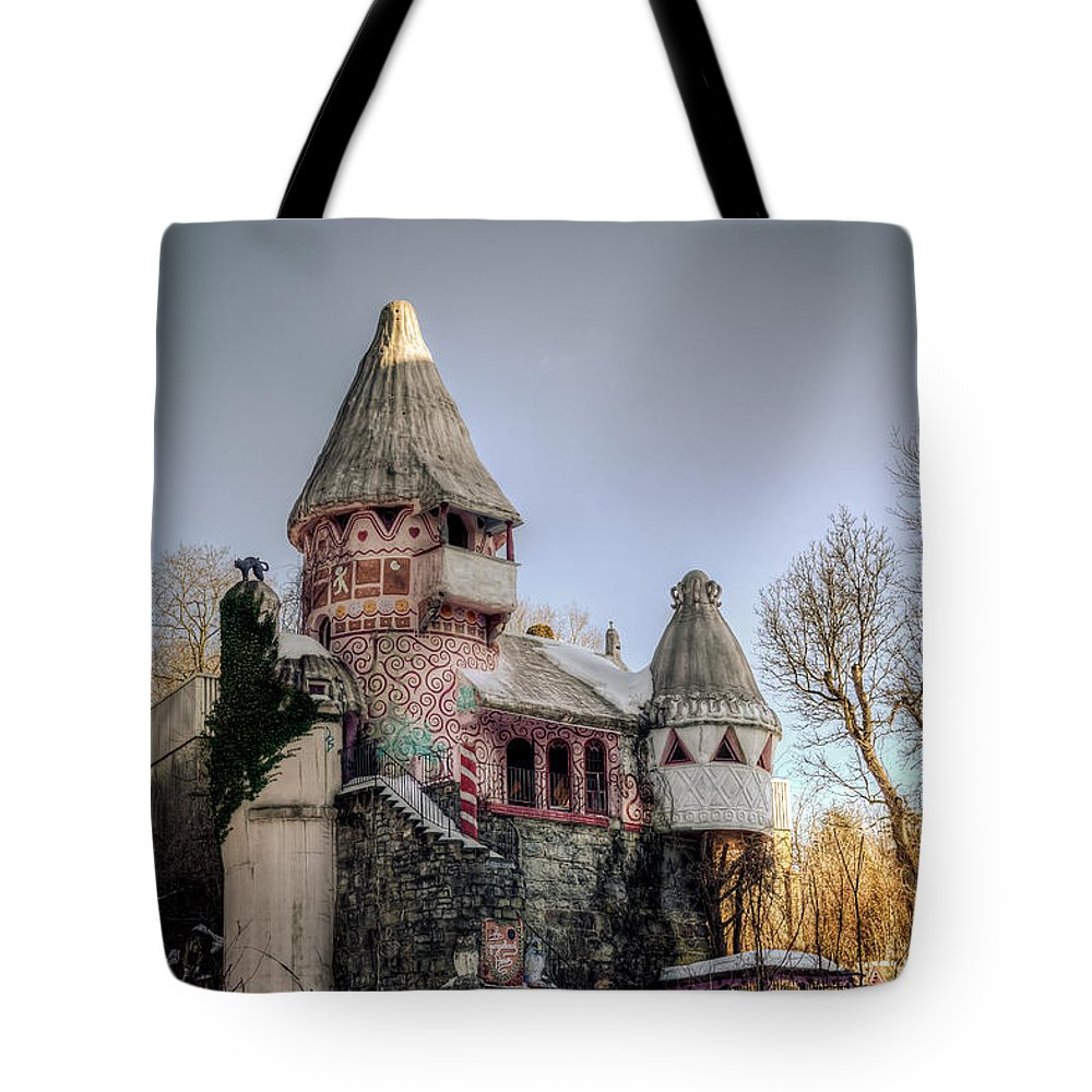 Castle Tote Bag featuring the photograph Gingerbread Castle by Jeffrey Miklush