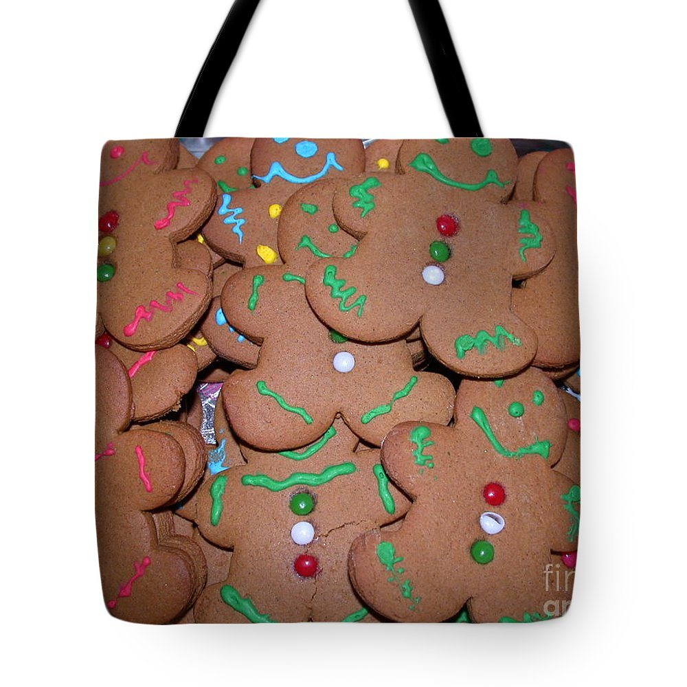 Cookies Tote Bag featuring the photograph Gingerbread Cookies by Living Color Photography Lorraine Lynch