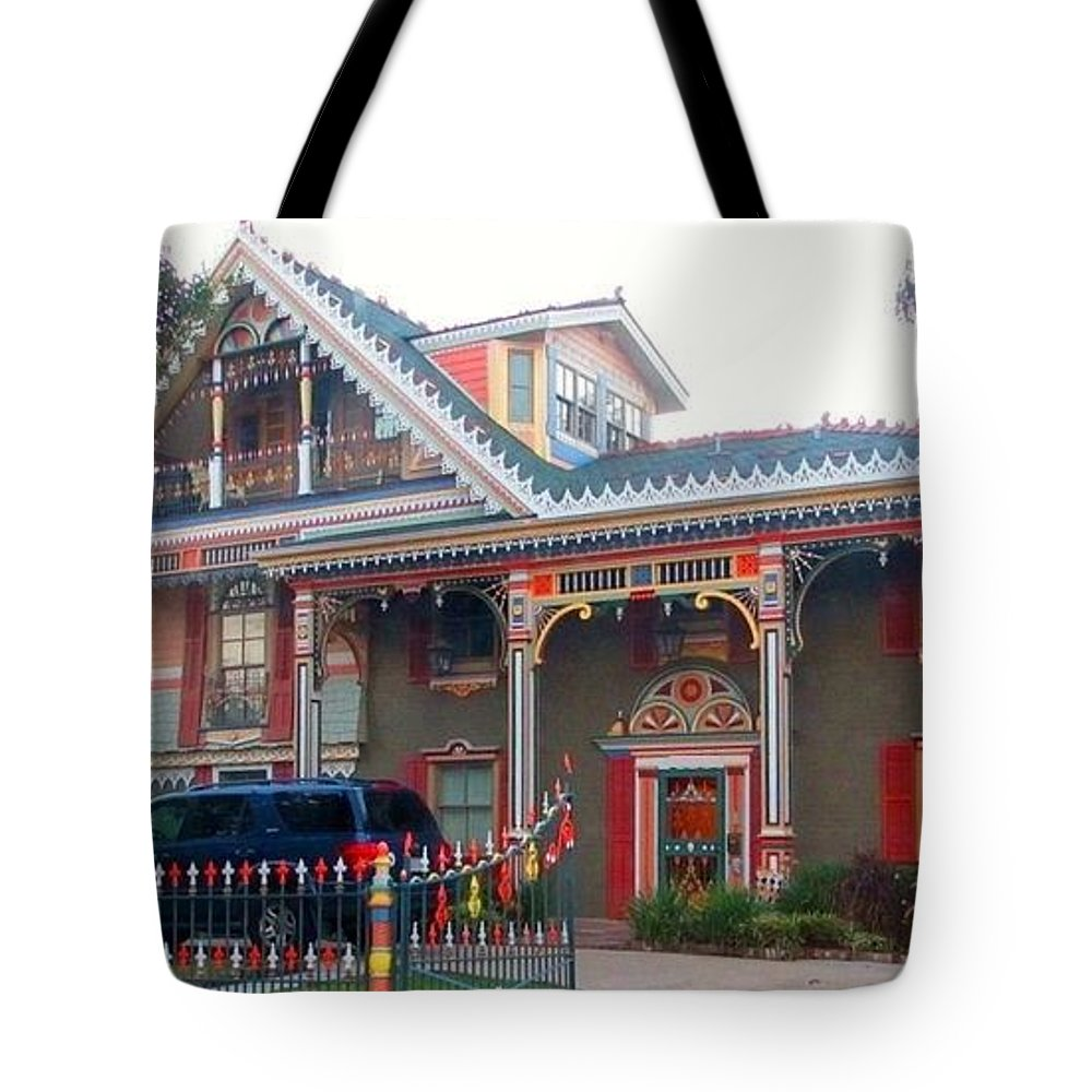 Gingerbread House Tote Bag featuring the photograph Gingerbread House - Metairie La by Deborah Lacoste