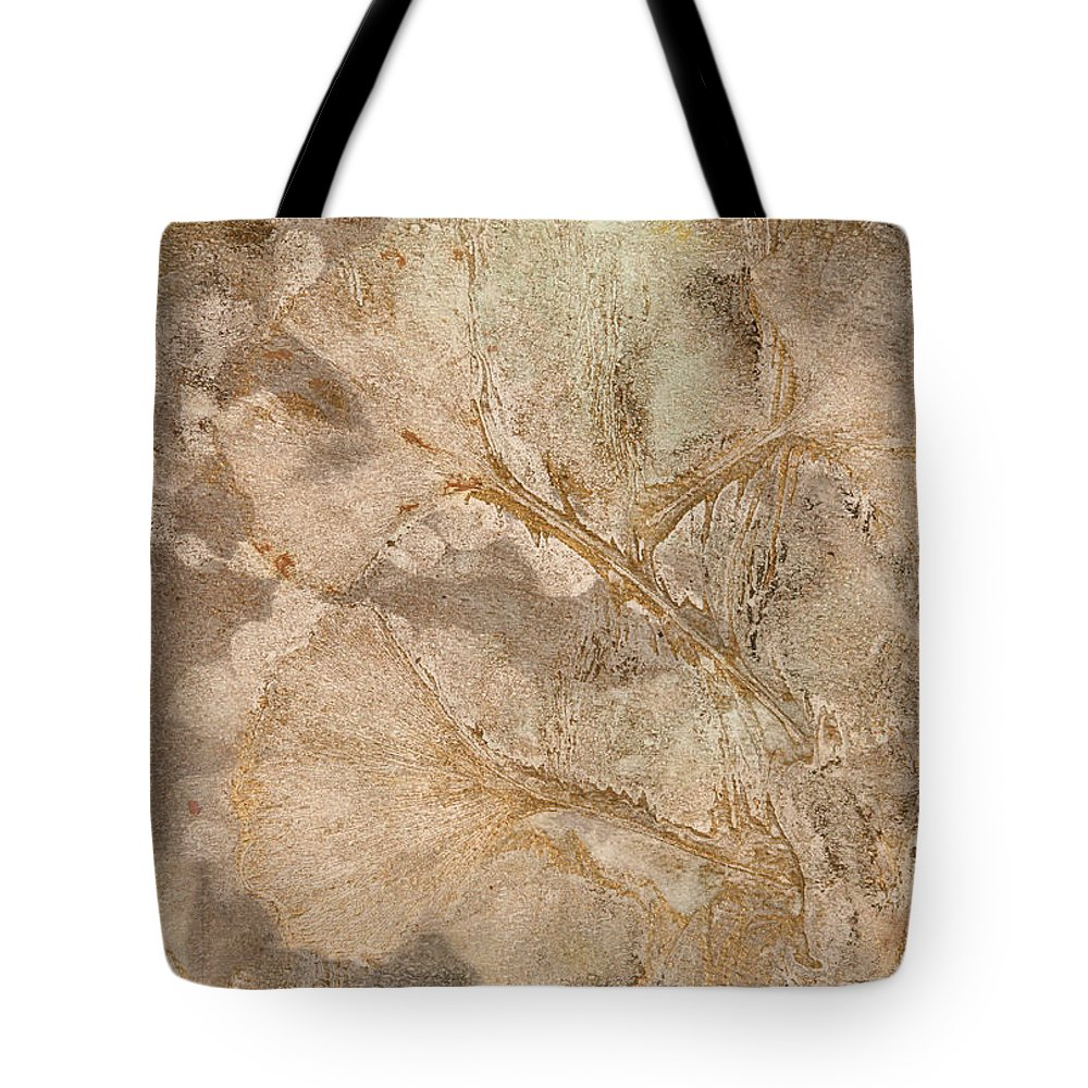 Gingko Tote Bag featuring the painting Gingko Stillness by Maura Satchell