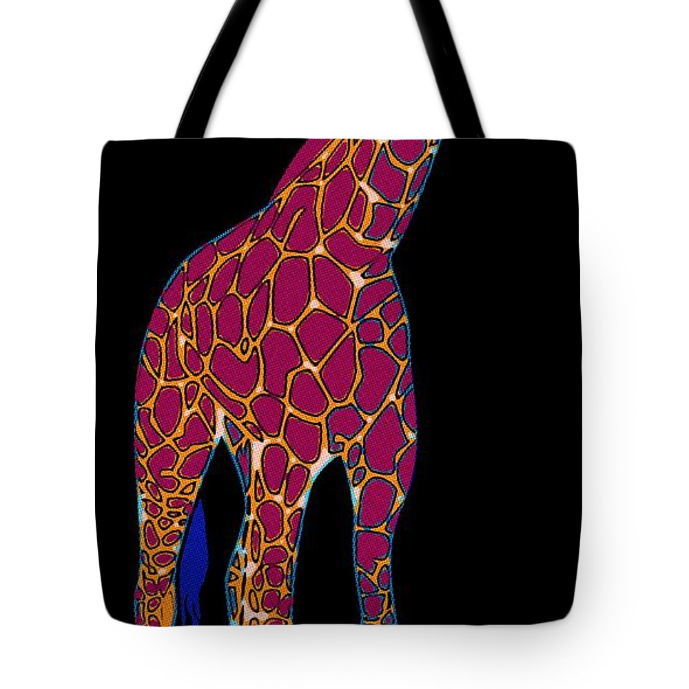 Giraffe Tote Bag featuring the painting Giraffe Pop Art by Florian Rodarte