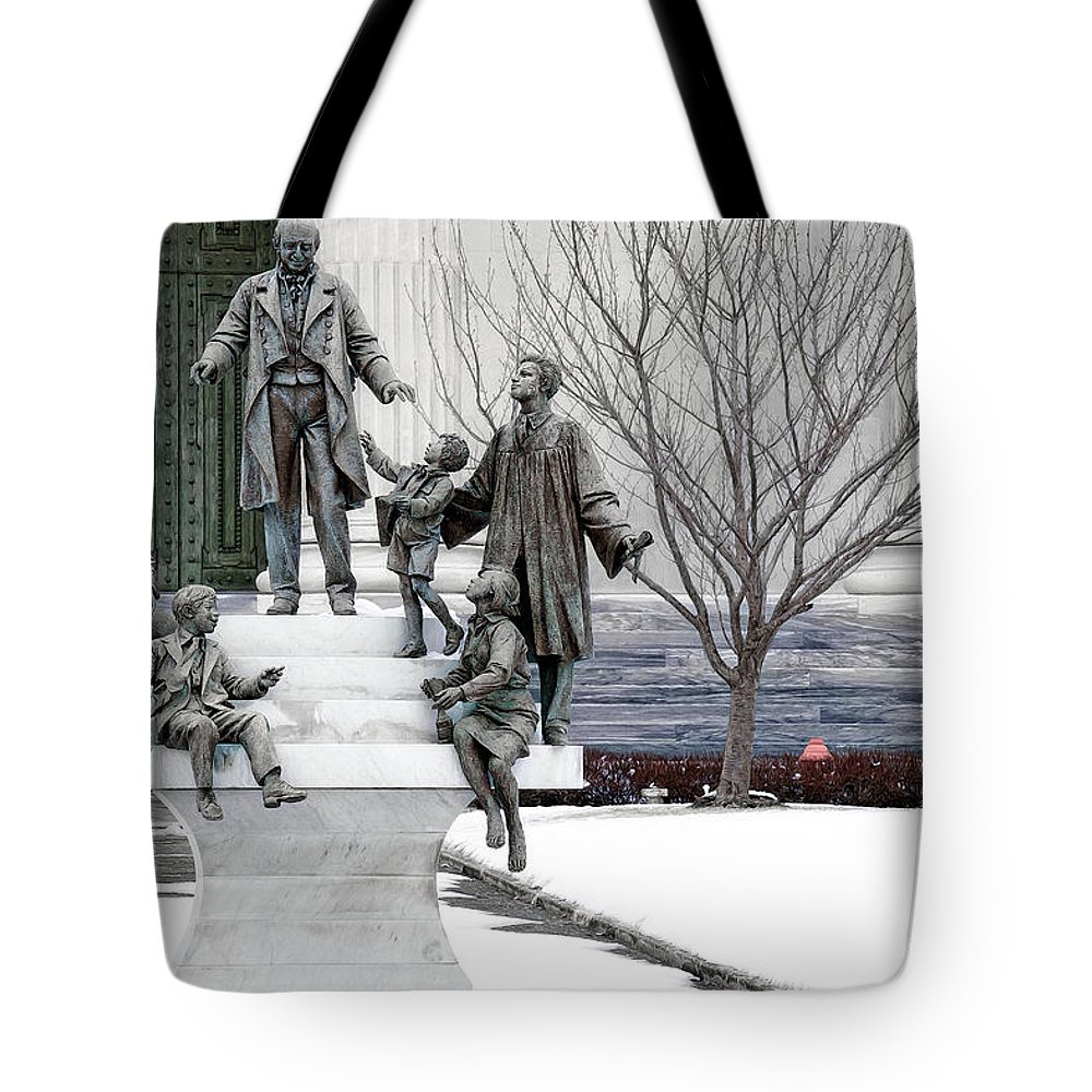 Girard College Tote Bag featuring the photograph Girard And His Orphans by Alice Gipson