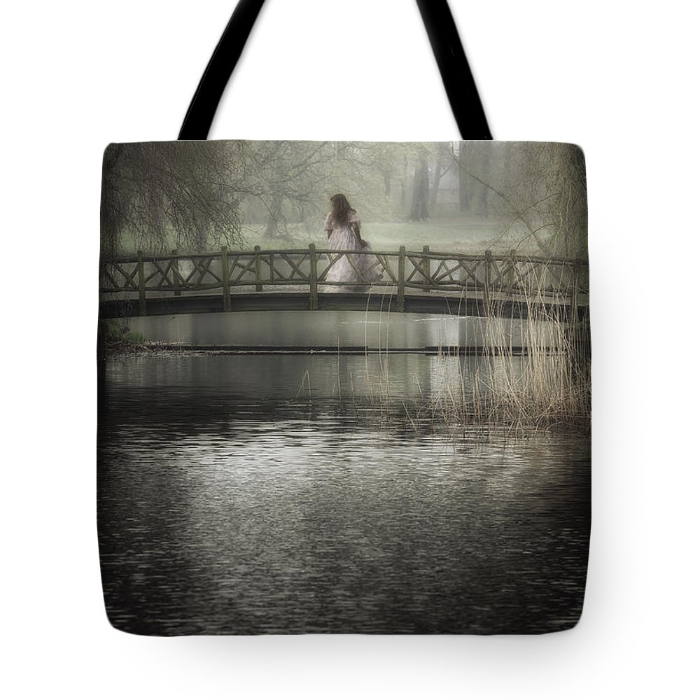 Girl Tote Bag featuring the photograph Girl On Bridge by Joana Kruse