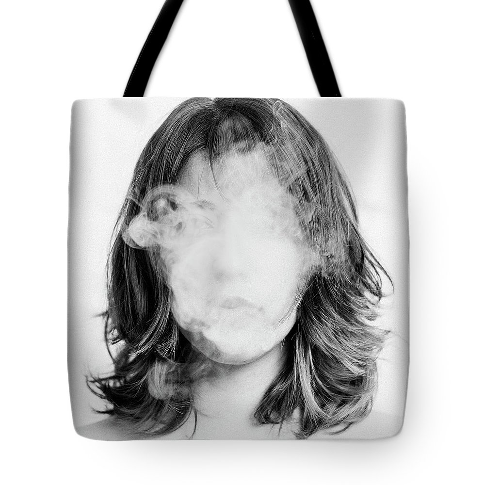 People Tote Bag featuring the photograph Girl Smoking by Lita Bosch