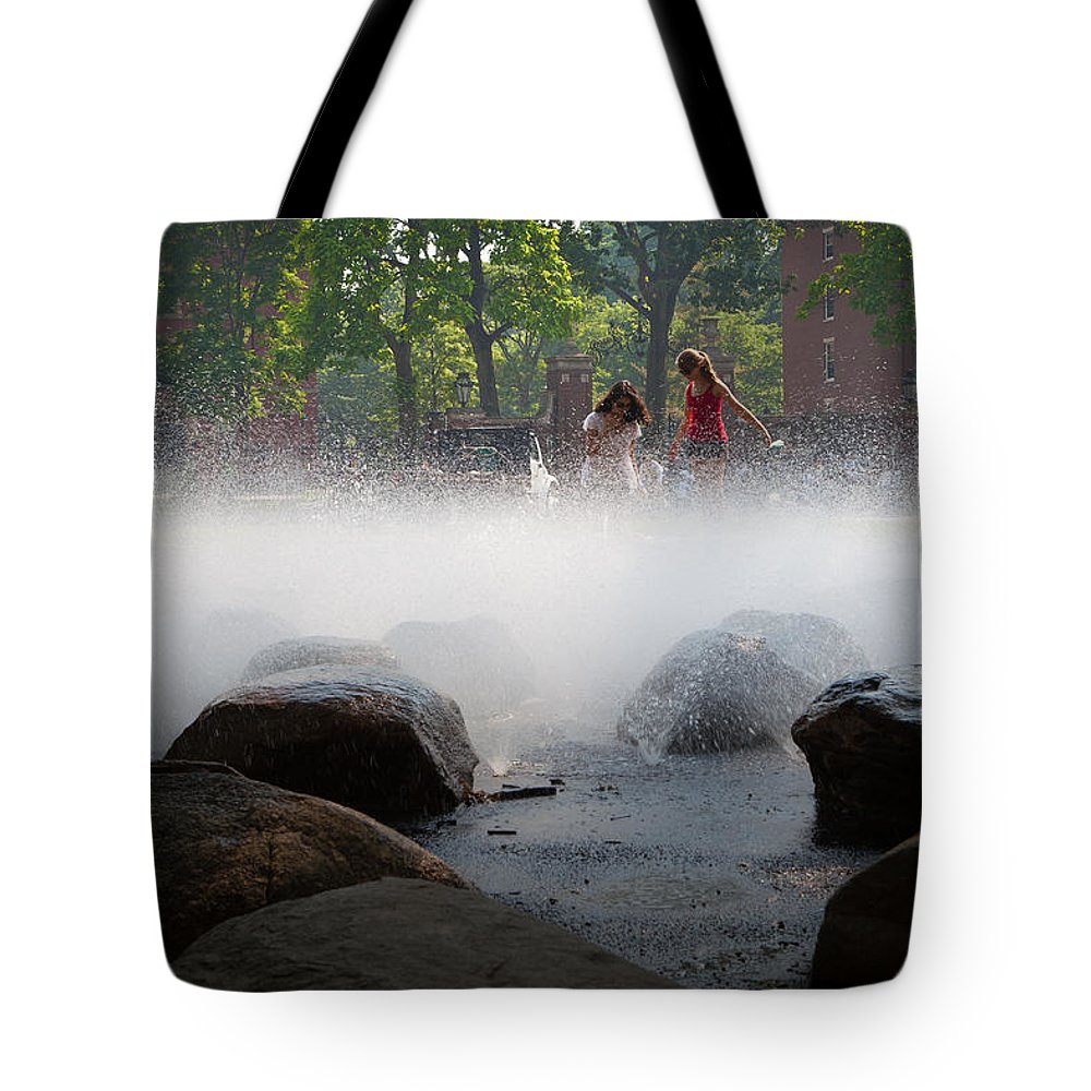 City Tote Bag featuring the photograph Girls At Harvard by Jiayin Ma