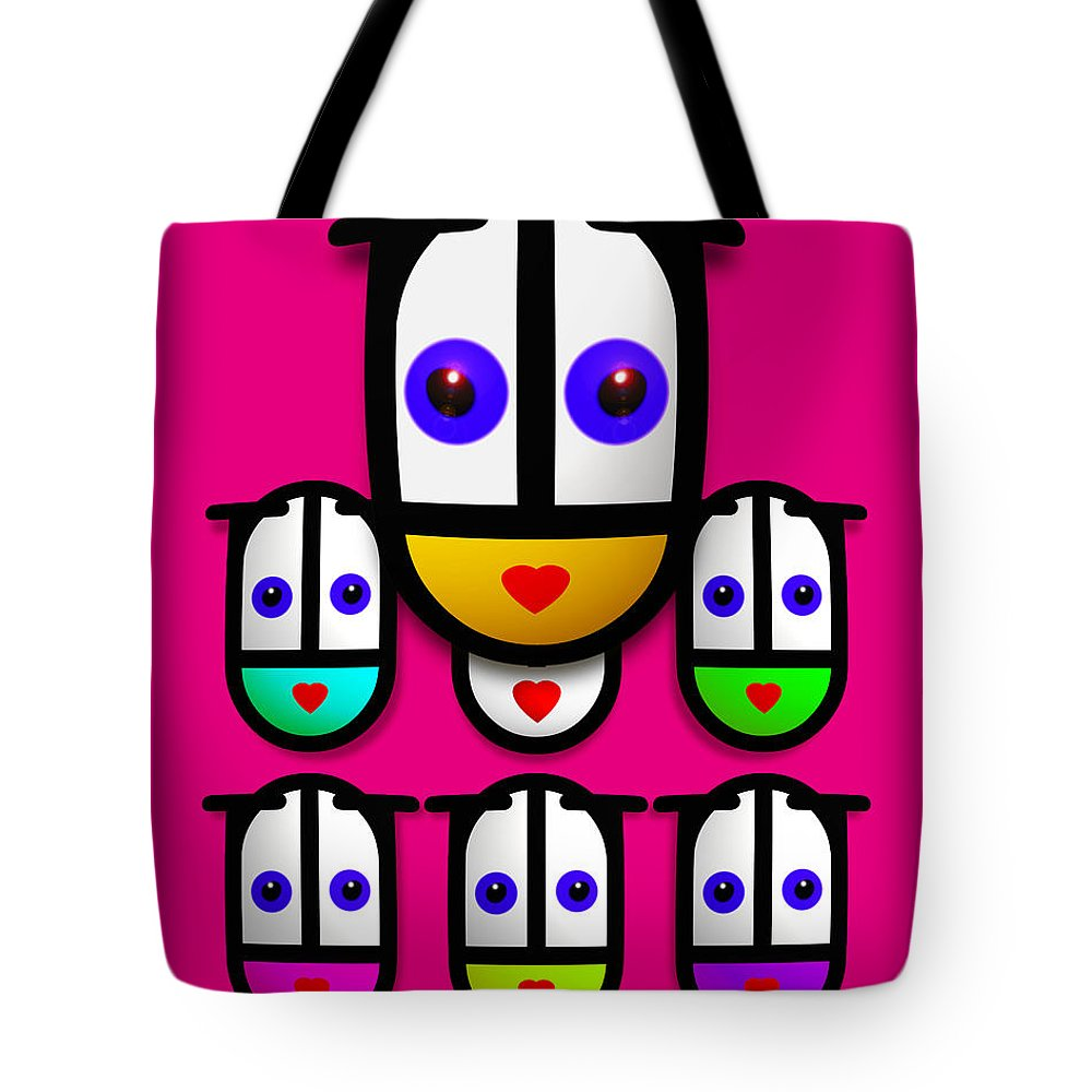 Girls Tote Bag featuring the painting Girls by Charles Stuart