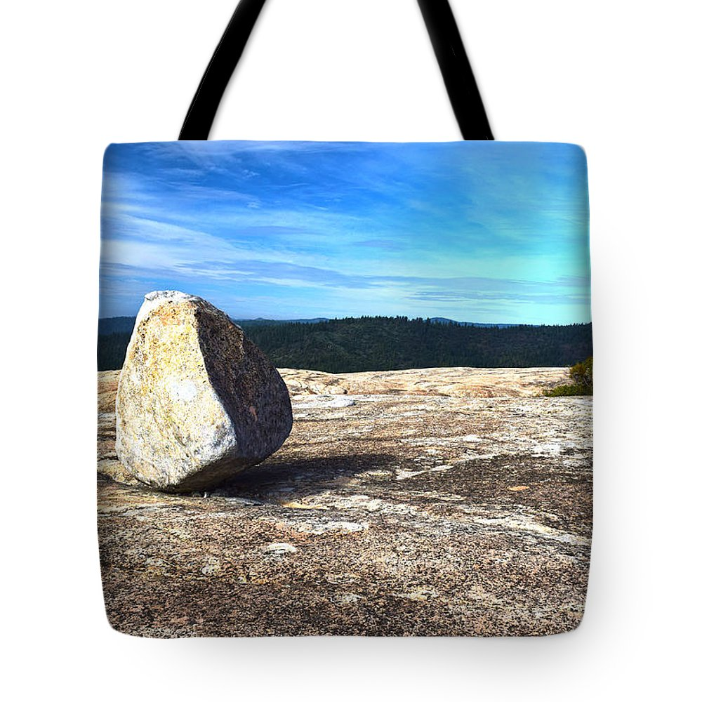 Bald Rock Dome Tote Bag featuring the photograph Glacial Erratic On Bald Rock Dome by Frank Wilson