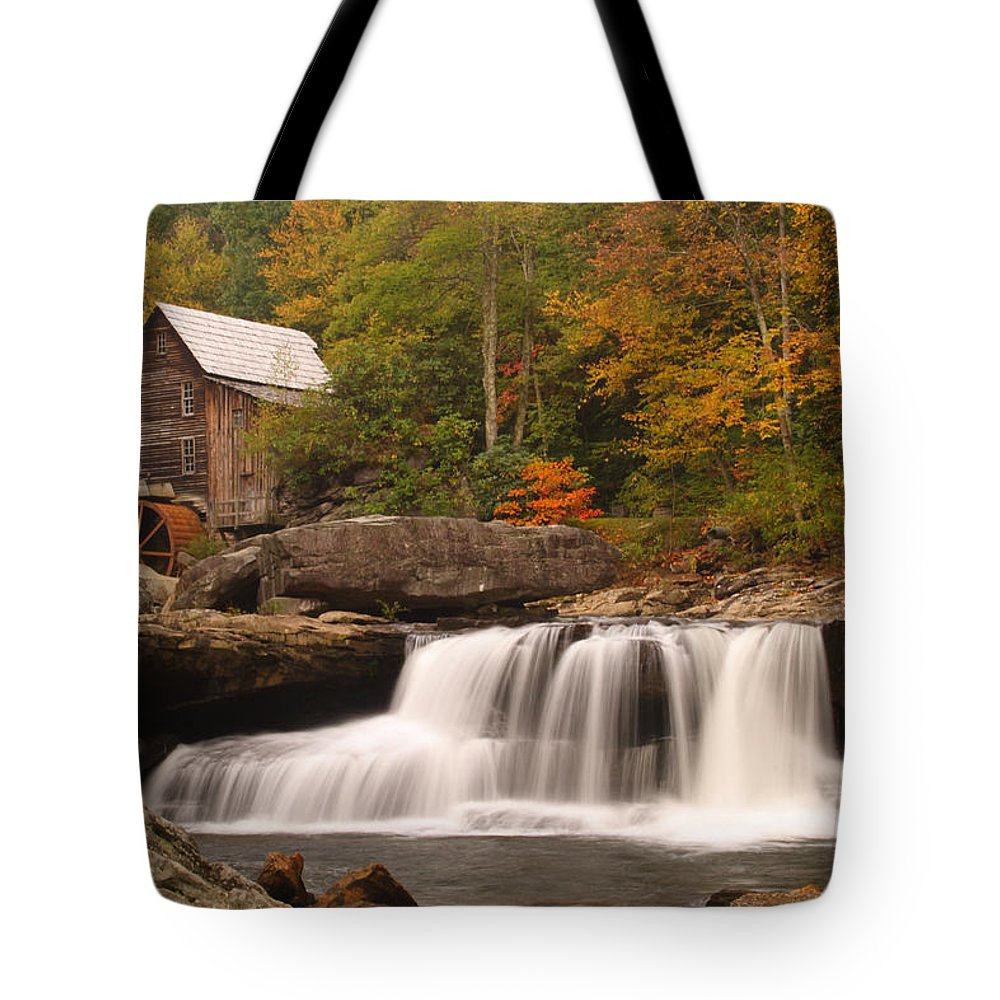 Glade Tote Bag featuring the photograph Glade Creek Grist Mill 10 by John Brueske