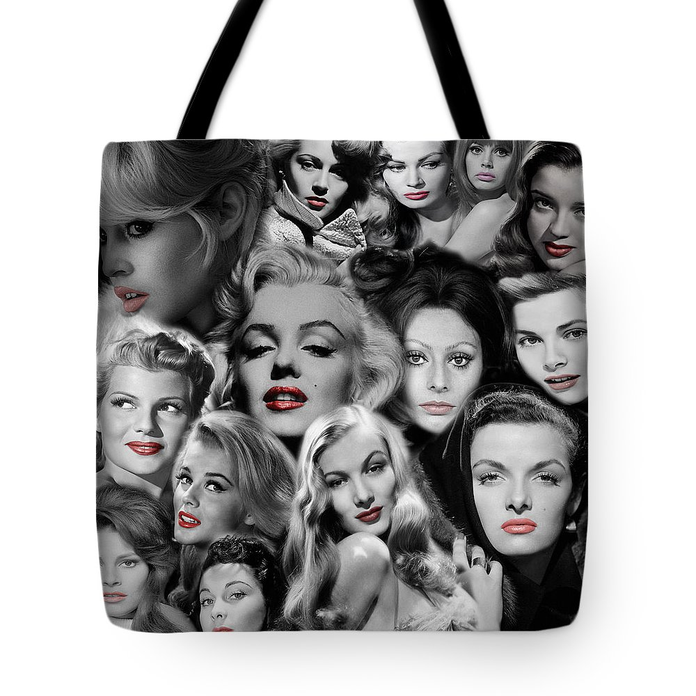 Hollywood Tote Bag featuring the photograph Glamour Girls 1 by Andrew Fare
