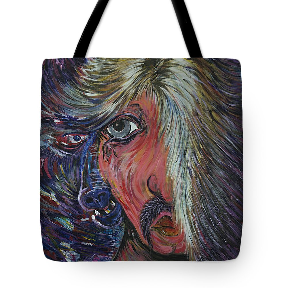 Nightlife Tote Bag featuring the painting Glam's Alter Ego by Doug LaRue