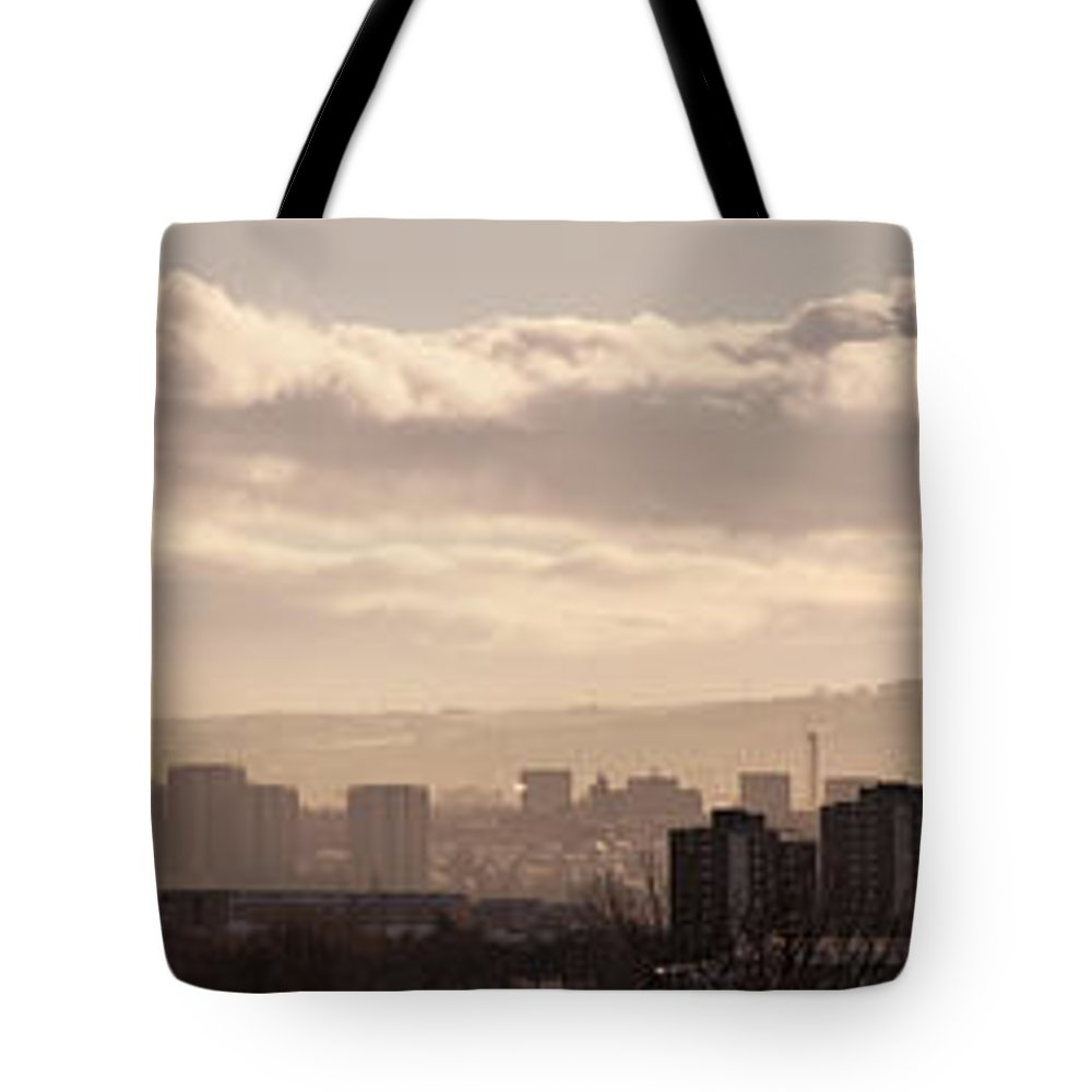 Urban Tote Bag featuring the photograph Glasgow Cityscape by Antony McAulay