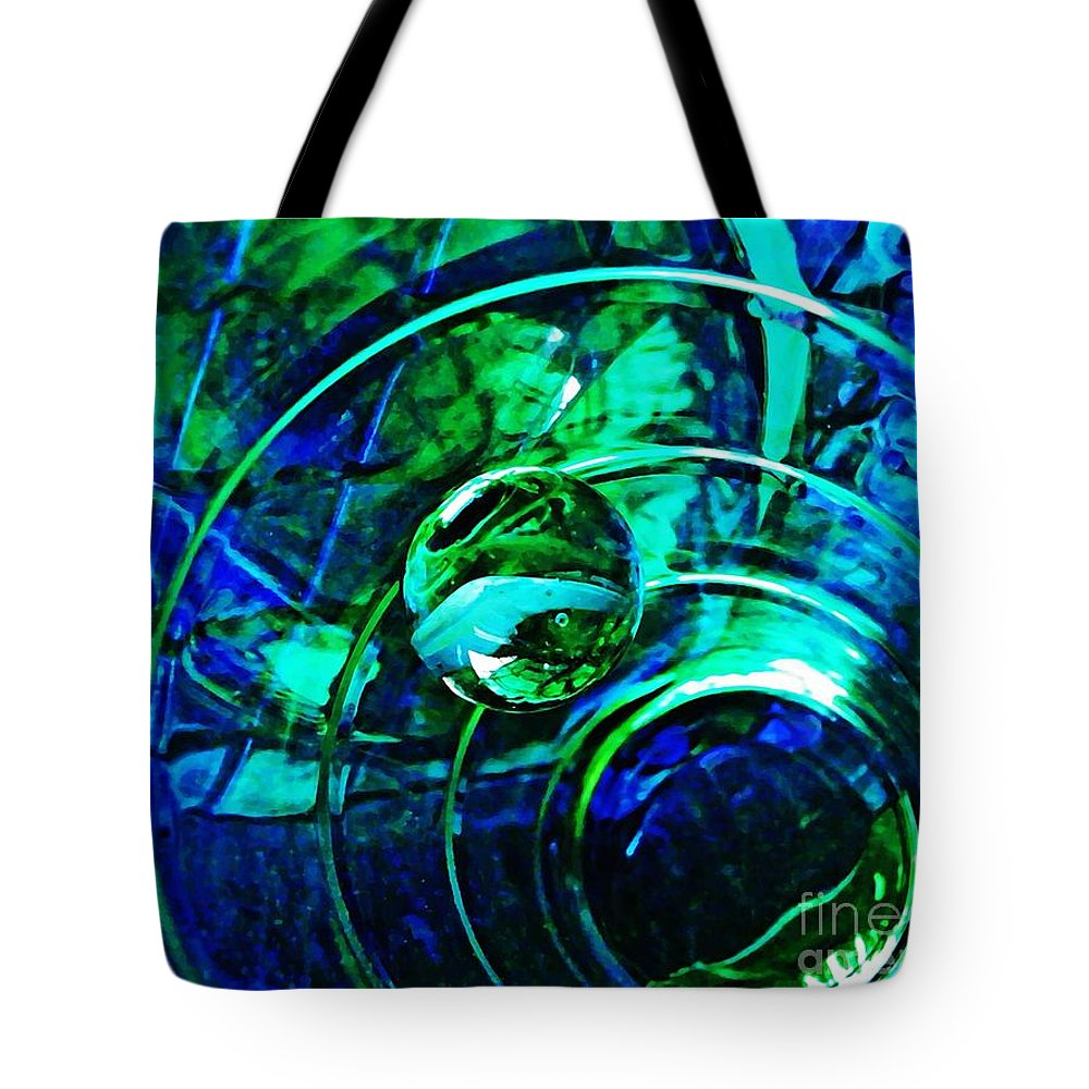Abstract Tote Bag featuring the photograph Glass Abstract 477 by Sarah Loft
