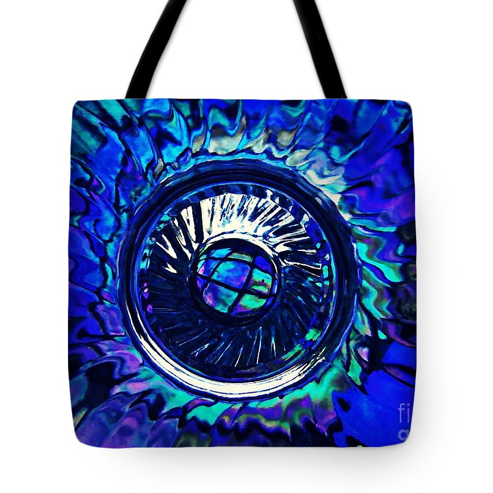 Abstract Tote Bag featuring the photograph Glass Abstract 481 by Sarah Loft