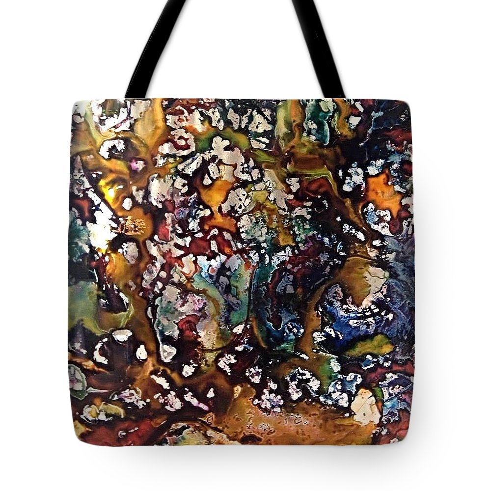 Abstract Tote Bag featuring the painting Glass Block 1 by Gloria Houlne