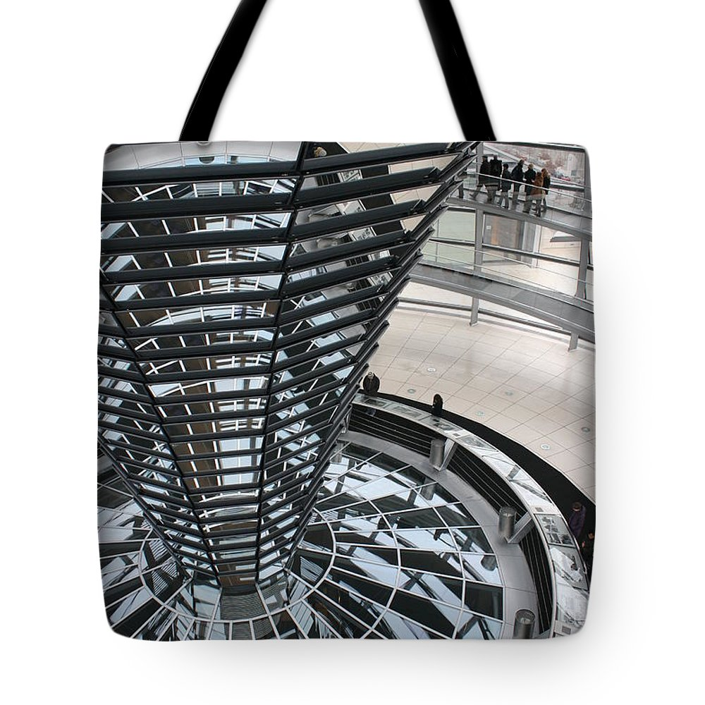 Glass Cupola Tote Bag featuring the photograph Glass Cupola - Berlin by Christiane Schulze Art And Photography