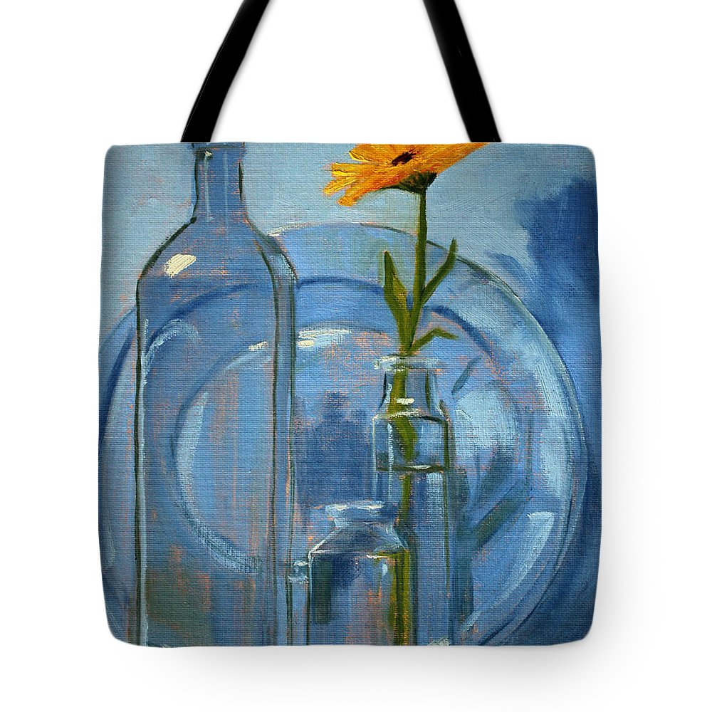 Glass Tote Bag featuring the painting Glass by Nancy Merkle