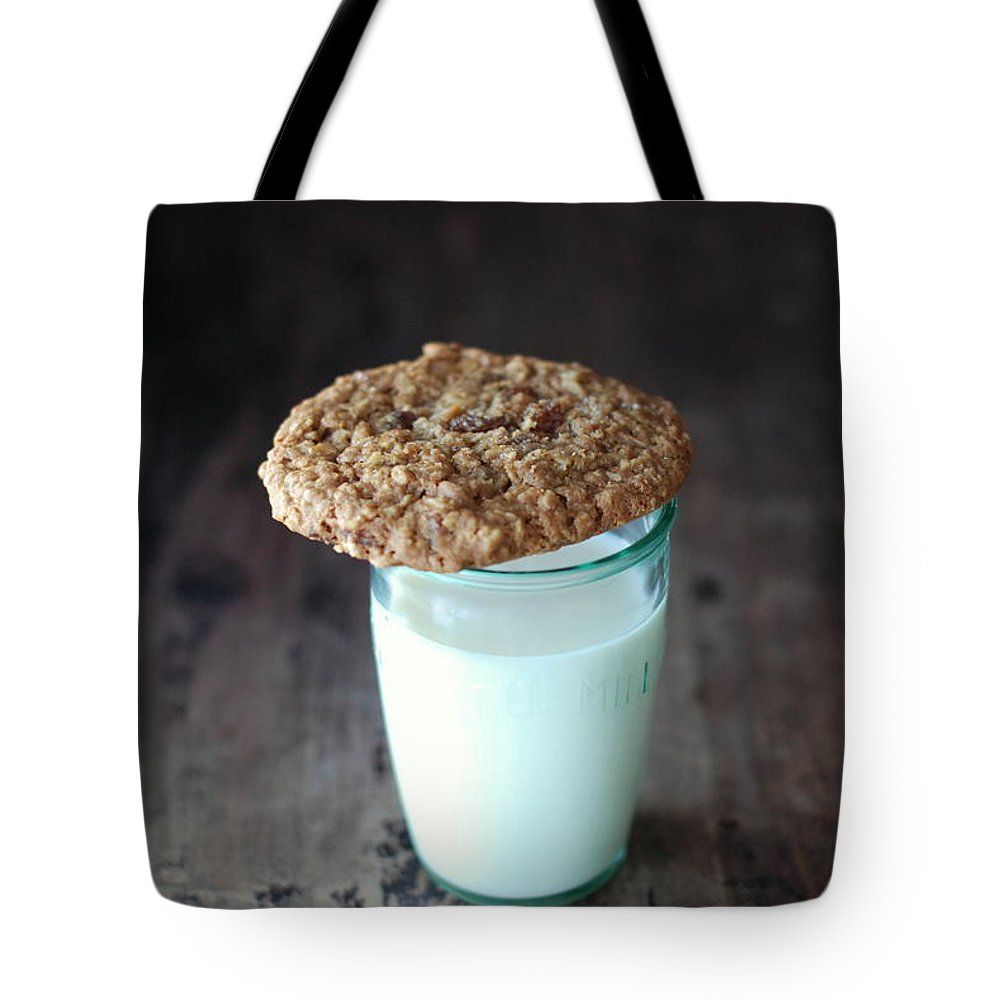 Milk Tote Bag featuring the photograph Glass Of Milk by Shawna Lemay